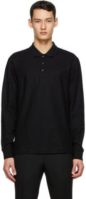 Burberry Black Pique Long Sleeve Polo