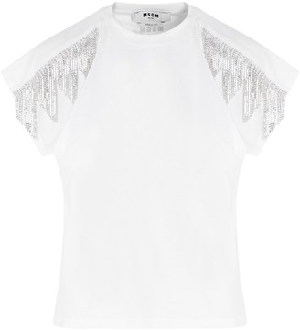 MSGM Embellished Trim Top