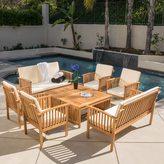 Christopher Knight Home Carolina 8-piece Outdoor Acacia Sofa Set