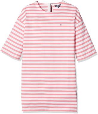Tommy Hilfiger Girl's AME Basic STP Dress 3/4 SLV