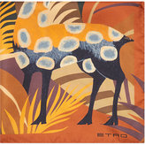 Etro Aztec Deer Silk Pocket Square