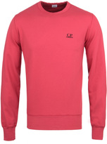 Cp Company Felpa Coral Red Crew Neck Jersey Sweater