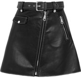 Maje Leather Mini Skirt - Black