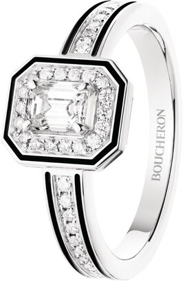 Boucheron White Gold and Diamond Vendome Lisere Engagement Ring