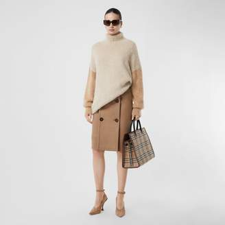 Burberry Wool Mohair Blend Oversized Turtleneck Sweater