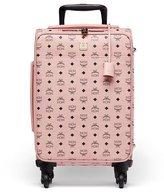 MCM Voyager Visetos Travel Trolley/Rolling Carryon Suitcase, Pink
