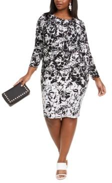 Taylor Plus Size Printed Jersey Dress