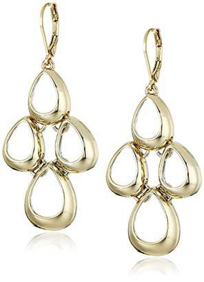 Anne Klein Women's Tone Teardrop Linear Chandelier Earrings