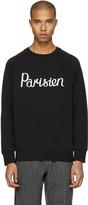 MAISON KITSUNÉ Black parisien Pullover