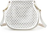 Cynthia Rowley Summer Leather Crossbody Bag, White/Biscuit