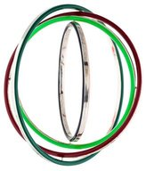 Delfina Delettrez Four Ring Enamel Bangle