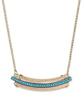 Hudson Moon Women's Hudson Moon® Gold Delicate Necklace with Acrylic Stones - Turquoise