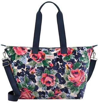 Cath Kidston Womens Cream Velvet Foldaway Overnight Bag - Cream