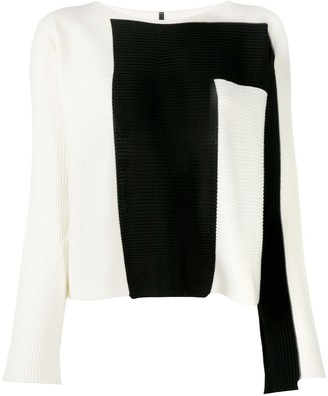 Pierantonio Gaspari Two-Tone Knit Jumper