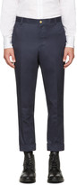Thom Browne Navy Unconstructed Chinos