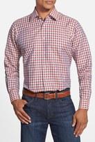 Robert Talbott Crespi II Windowpane Plaid Trim Fit Sport Shirt