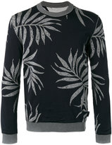 Ballantyne intarsia leaf jumper - men - Cotton/Viscose - 46