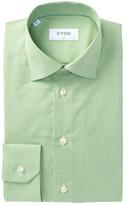 Eton Gingham Slim Fit Dress Shirt