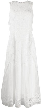 Alberta Ferretti Embroidered Dress