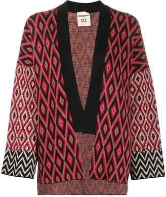 Semi-Couture Semicouture diamond pattern knit cardigan