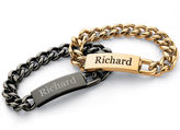 JCPenney FINE JEWELRY Personalized Mens Stainless Steel Name Bracelet