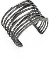 Alexis Bittar Crystal-Encrusted Origami Peeks Cuff Bracelet