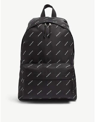 Balenciaga All-over logo nylon backpack