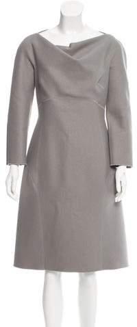 Alberta Ferretti Wool Midi Dress