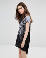 Religion Cage Printed T-Shirt Dress
