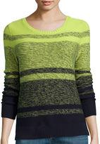 Liz Claiborne Long-Sleeve Ombr Marled Sweater