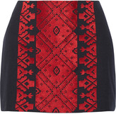 Figue Rikka embroidered cotton mini skirt
