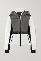 Erin Snow Kat Color-block Quilted Merino Wool-blend Ski Jacket - Gray