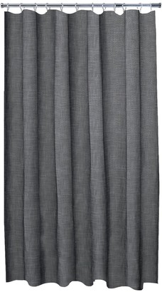 Aqualona Grey Slub Shower Curtain