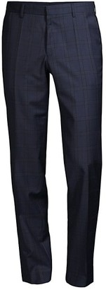 HUGO BOSS Windowpane Virgin Wool Trousers