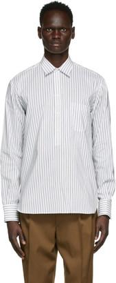 Rochas Homme White and Black Silk Rebecca Shirt