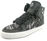 Supra Women's Vaider Women Round Toe Canvas Black Sneakers.