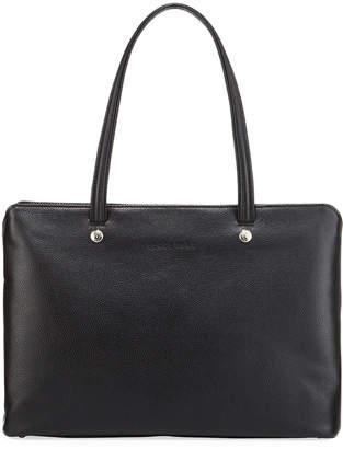 Longchamp Le Foulonne Medium Leather Shoulder Tote Bag