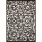 Nourison Caribbean CRB15 Ivory/Charcoal Indoor/Outdoor Area Rug
