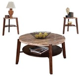 Acme 3 Piece Nadav Pack Square Coffee End Table Set Faux Marble