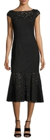 Jay Godfrey Lace Flounce Midi Dress