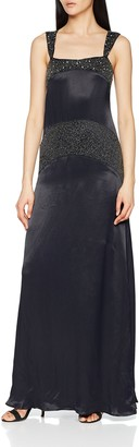 Hoss Intropia Women's P480VEX06066600 Party Dress Black (Negro 600) 10 (Size:38)