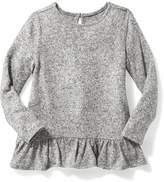 Old Navy Plush-Knit Ruffle-Hem Top for Toddler Girls