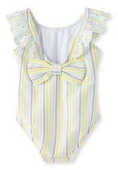 Little Me Baby Girls Multi Stripe Swimsuit