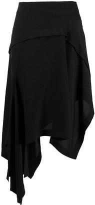 Lanvin Asymmetric Hem Skirt