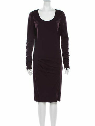 Patrizia Pepe Scoop Neck Knee-Length Dress w/ Tags Purple
