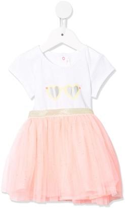 Billieblush Color-Block Tulle Dress