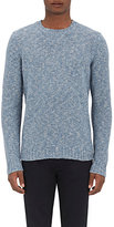 Barneys New York MEN'S PURL-STITCHED SWEATER-BLUE SIZE S