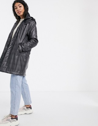 Rains waterproof check mac coat