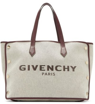 Givenchy Bond Medium Logo-print Canvas Tote Bag - Womens - Cream Multi