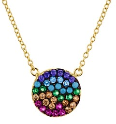 Aqua Multi Color Disc Pendant Necklace in Gold Tone-Plated Sterling Silver, 15 - 100% Exclusive